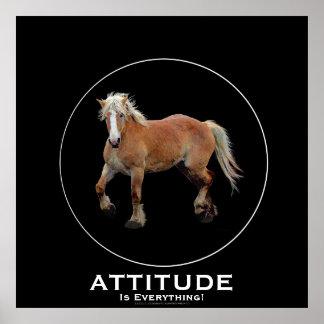 Palomino Belgian Draft Horse ATTITUDE Poster