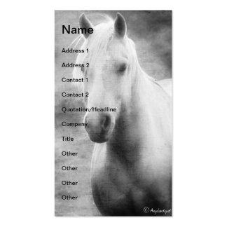 Palomino blanco y negro plantilla de tarjeta personal
