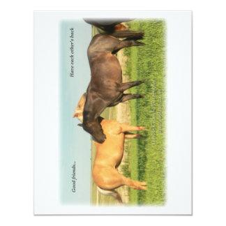 Palomino & Blue Roan horses Card
