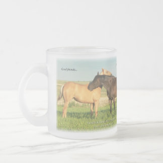 Palomino & Blue Roan horses Frosted Glass Coffee Mug