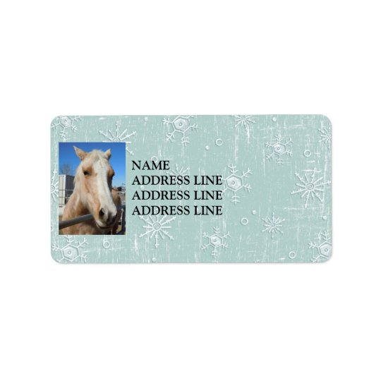 Palomino Blue Snowflakes Background - Western Label