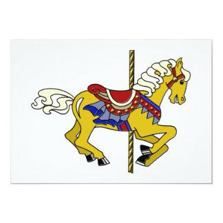 Palomino Carousel Horse Card