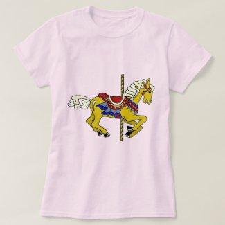 Palomino Carousel Horse T-Shirt