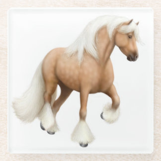 Palomino Cob Vanner Horse Glass Coasters Glass Coaster