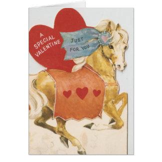 Palomino de la tarjeta del día de San Valentín del