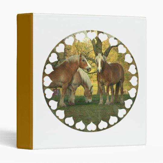 Palomino Draft Horse Binder