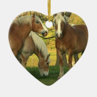 Palomino Draft Horse Ornament