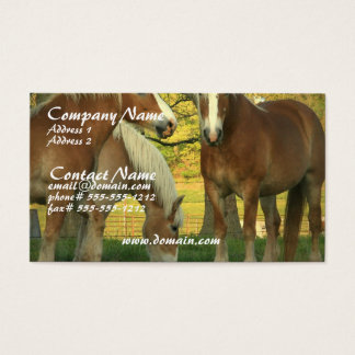 Palomino Draft Horses Business Card
