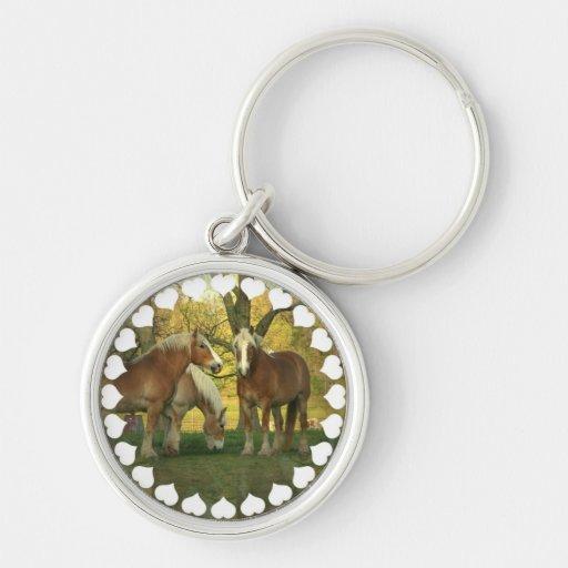 Palomino Draft Horses Keychan Keychains