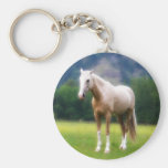Palomino Dream Horse Basic Round Button Keychain