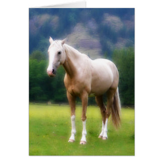 Palomino Dream Horse Card