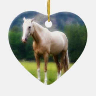 Palomino Dream Horse Ceramic Ornament