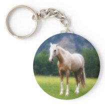 Palomino Dream Horse Keychain