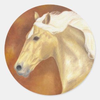 Palomino Galloping Classic Round Sticker