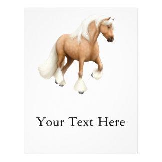 Palomino Gypsy Cob Horse Flyer