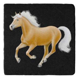 Palomino Haflinger Horse Stone Trivet Trivets