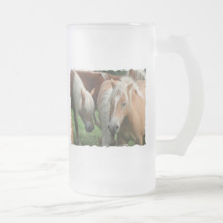 Palomino Herd Frosted Beer Mug