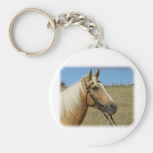 Palomino Horse 9R015D-184 Basic Round Button Keychain