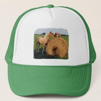 Palomino Horse and Dog Meeting Trucker Hat