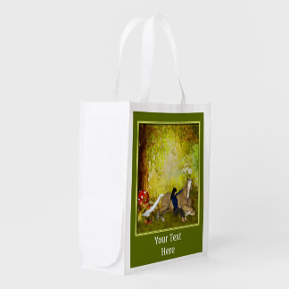 Palomino Horse And Girl Personalized Reusable Grocery Bag