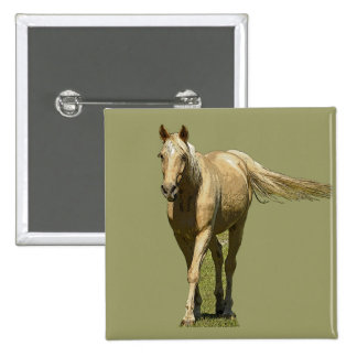 Palomino Horse Badge or Button
