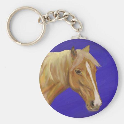 Palomino Horse Basic Round Button Keychain