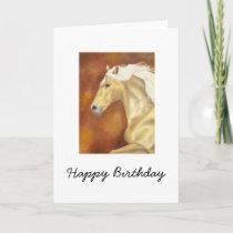 Palomino Horse Birthday Card