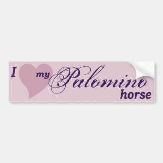 Palomino horse bumper sticker