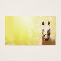 Palomino horse business card