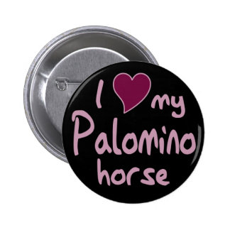 Palomino horse pinback buttons