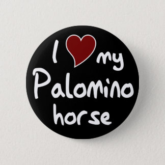 Palomino horse button