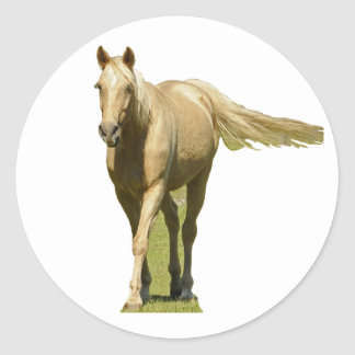 Palomino Horse Classic Round Sticker