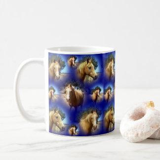 Palomino Horse Collarge, Coffee Mug