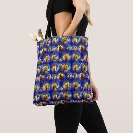 Palomino Horse Collarge, Tote Bag