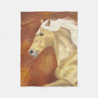 Palomino Horse fleece blanket