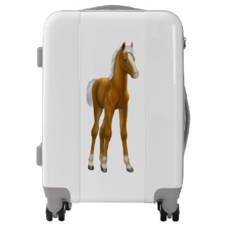 Palomino Horse Foal Luggage