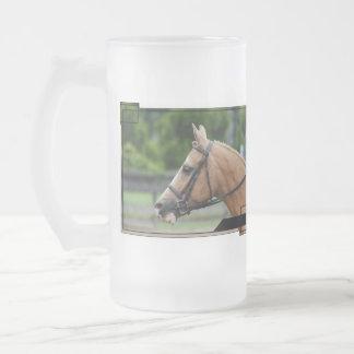 Palomino Horse Frosted Beer Mug