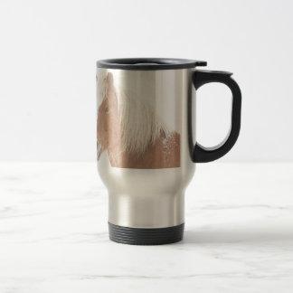 Palomino Horse Headshot Snow and Fog Coffee Mugs
