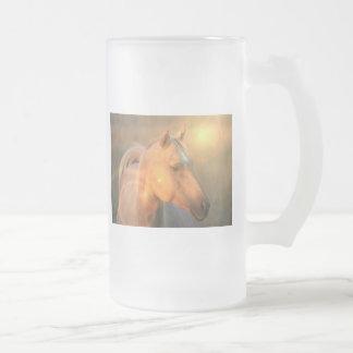Palomino Horse in Light Beer Mug