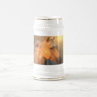 Palomino Horse in Light Beer Stein 18 Oz Beer Stein