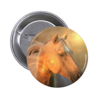 Palomino Horse in Light Button