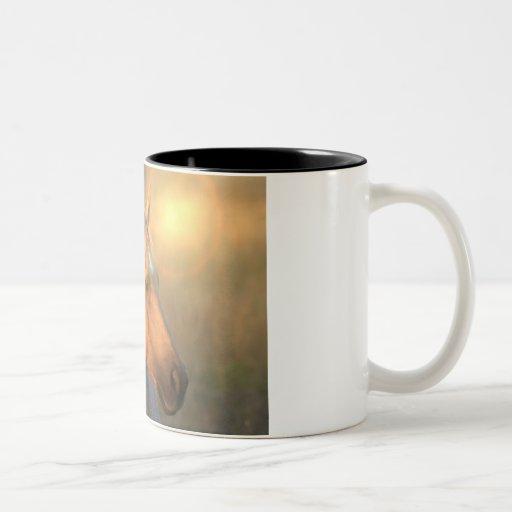 Palomino Horse in Light Coffee Mug