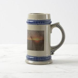 Palomino Horse in Sunrise 18 Oz Beer Stein