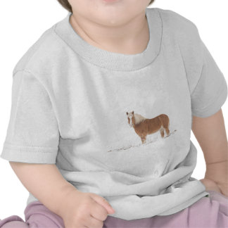 Palomino Horse in the Snow T-shirt