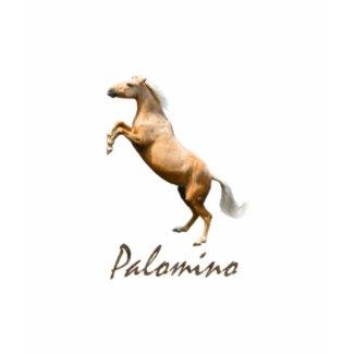 Palomino Horse Jumping T-shirt shirt