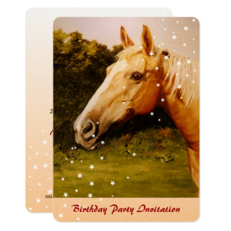 Palomino Horse Oil Painting Card