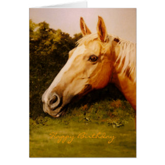 Palomino Horse Oil Portrait Greeting Cards