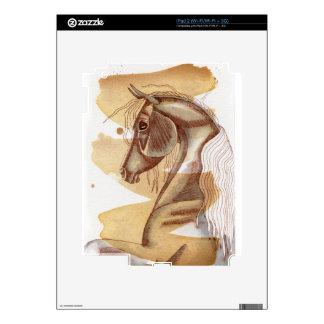 Palomino Horse On Gold Watercolor Wash Skin For iPad 2