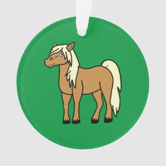 Palomino Horse Ornament