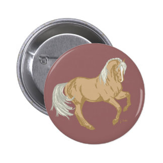Palomino Horse Pinback Button